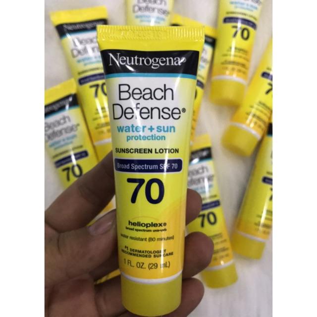 Kem chống nắng đi biển Neutrogena Beach Defense SPF70 29ml, hàng nhập Mỹ, HSD 2/2019
