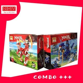 Combo Xếp Hình Ninja Cho Bé 2019