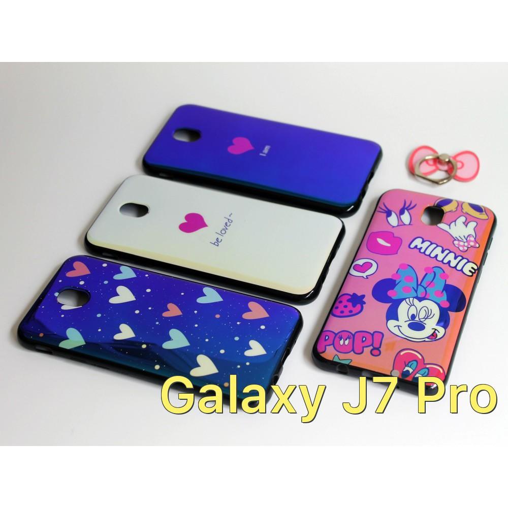 Ốp lưng dẻo bóng ánh màu cho Samsung Galaxy J7 Pro