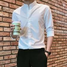 ÁO Sơ Mi Nam Trắng Chất Cotton Dài Tay AH122 XUMON SHOP