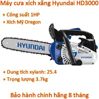 Yêu ThíchMáy cưa xích chạy xăng Hyundai HD-3000 1HP chính hãng, mạnh mẽ bền bỉ, phù hợp cưa cành, trèo lên cây cưa
