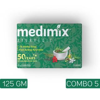 Set 5 xà phòng Medimix 18 loại thảo dược 125g/bánh