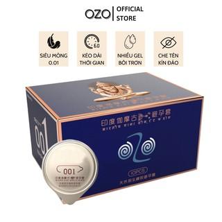 Bao cao su OZO 0.01 Xanh kéo dài thời gian quan hệ, nhiều gel bôi trơn - Hộp 10 bcs-olo store thumbnail