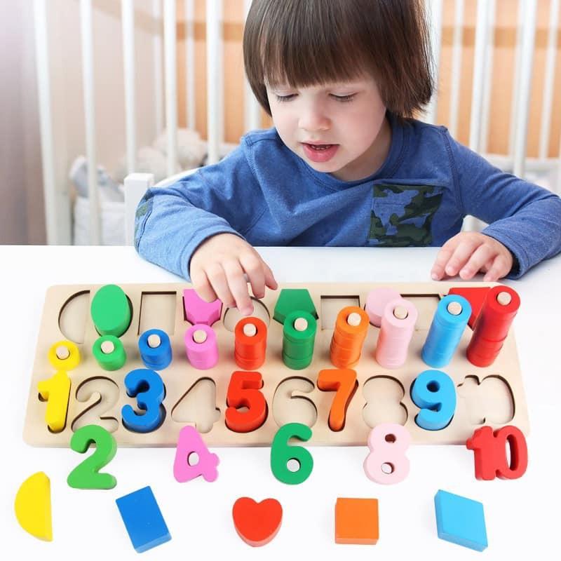 Cột tính logic toán học số và hình khối