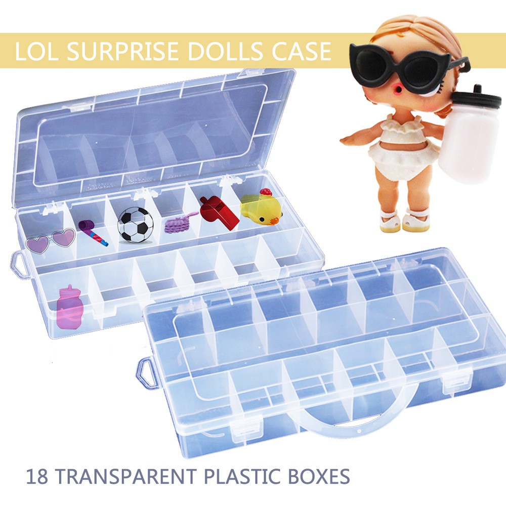 18 Compartments Toy Storage Carrying Box Accessories For LOL Surprise Dolls