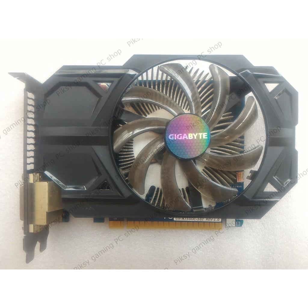 Card màn hình Gigabyte GeForce GTX 750 1GB GDDR5 (GV-N750OC-1GI)
