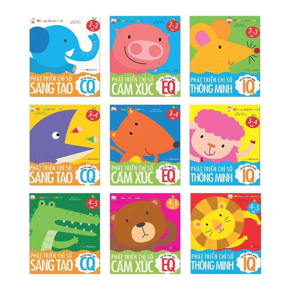 Sách - Combo 3 cuốn Phát triển chỉ số thông minh cho trẻ 2-5 tuổi