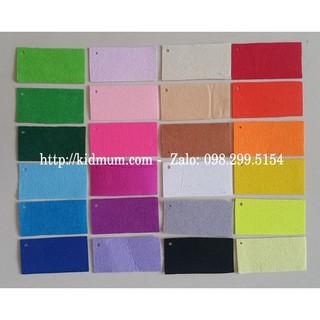 Vải Nỉ (dạ, felt): combo 12, 18, 24 màu; KT 20*15, 30*20, 45*30cm – Làm Đồ Handmade, Thủ Công, Craft, DIY