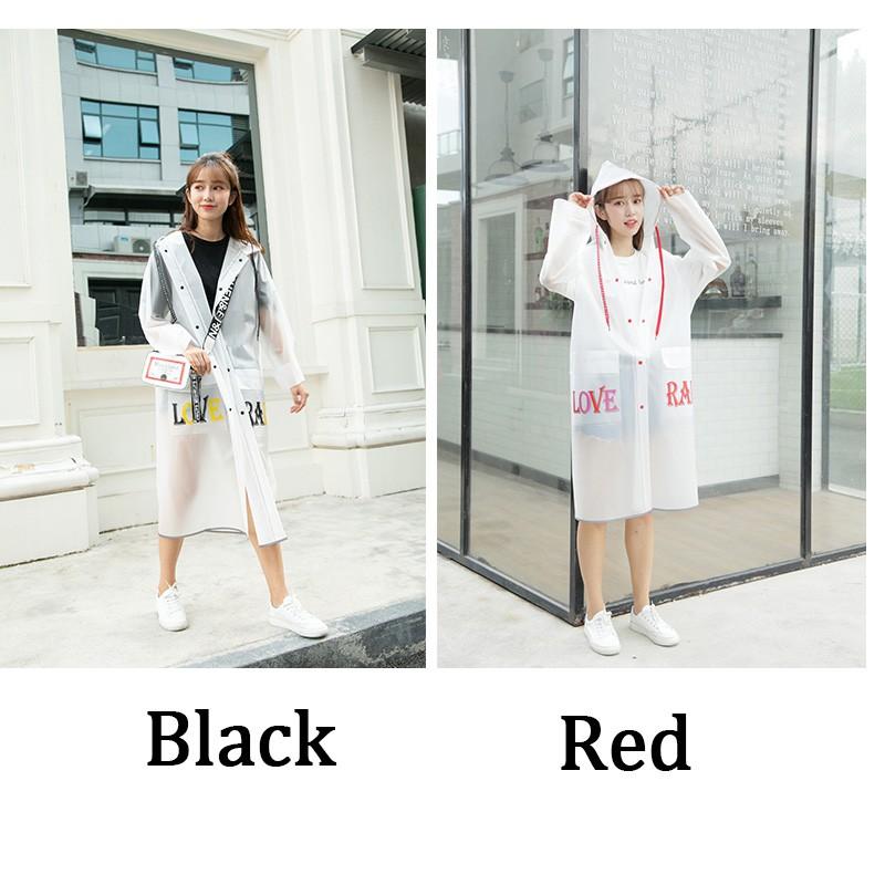 Áo mưa trong suốt nhựa EVA phong cách Hàn Quốc