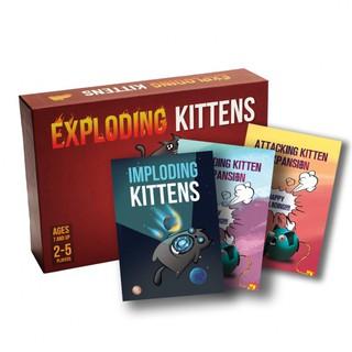 Bài Mèo Nổ Exploding Kittens – Combo Mèo Nổ Tung Thế Giới + 3 Bản mở rộng Cao Cấp – EtoysVN – Đồ chơi Board Game