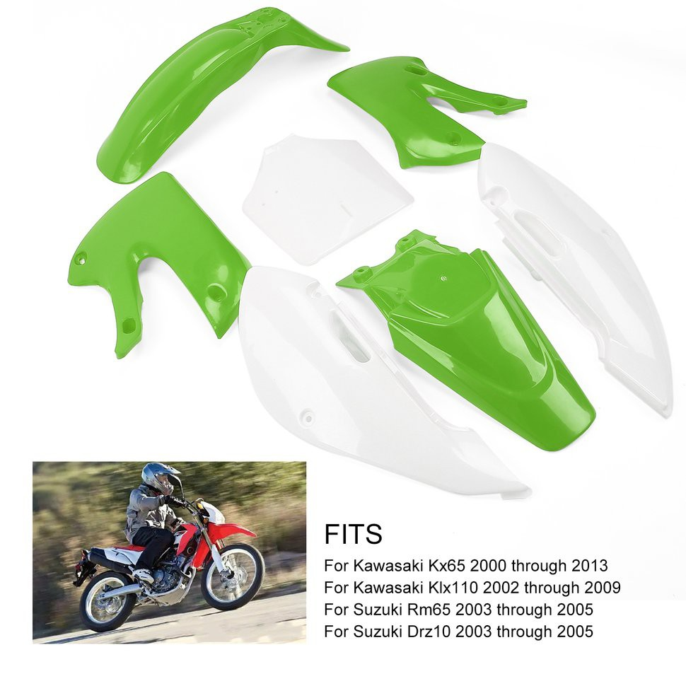 🌸Off-road Motorcycle Plastic Exterior Parts Fit for Kawasaki KLX110 KX65