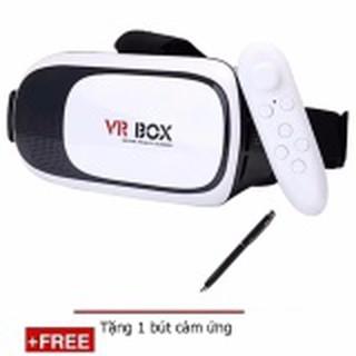 Kính thực tế ảo VR Box phiên bản 2 (Trắng) + Tặng 1 tay cầm chơi game bluetooth và 1 bút cảm ứng V012 thumbnail