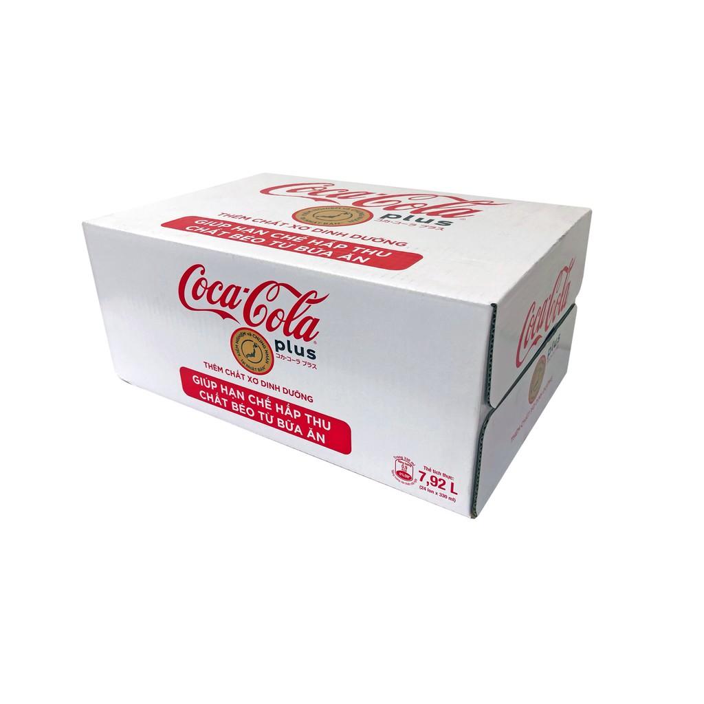 [Mã GRO1COCA03 giảm 10% đơn 99K] Thùng 24 lon Nước giải khát Coca-Cola Plus 330ml/lon