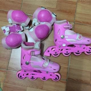 Giày trượt patin Lòngeng kèm bộ bảo vệ