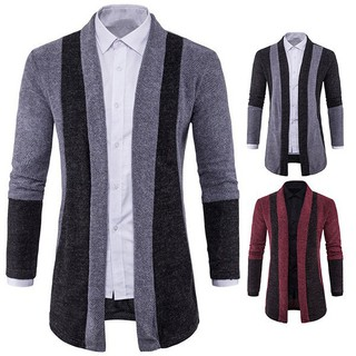 Hot Sale New Fashion Men's Long Sleeve Casual Sweaters Slim Knit Cardigan