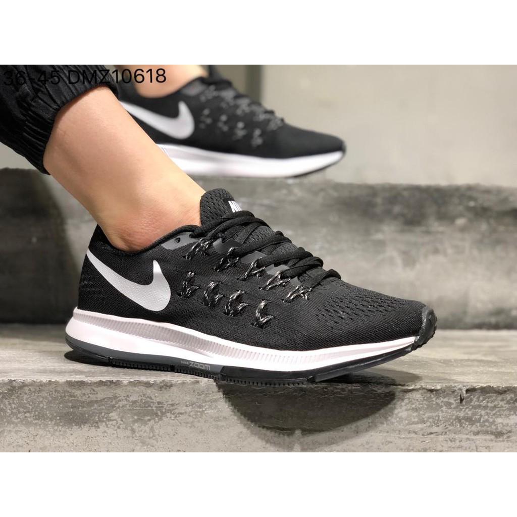 Nike Wmns Nike Air Zoom Pegasus 33 ลงจอดบนดวงจันทร์ รองเท้าตาข่ายระบายอากาศ รองเท้าวิ่งกีฬากลางแจ้ง -D1