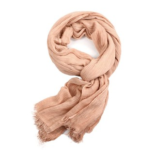 LSF-Men Winter Thin Cotton Fringed Solid Color Scarf Fashion Charming Long Scarf