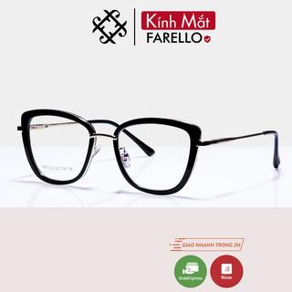 Gọng kính cận nữ cao cấp FARELLO mắt mèo chất liệu nhựa chắc chắn màu sắc thời trang 87030