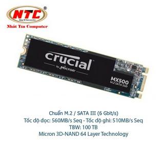 Ổ Cứng SSD M2 Crucial MX500 dung lượng 250GB Chuẩn giao tiếp SATA III 6Gbit s (Đen) thumbnail