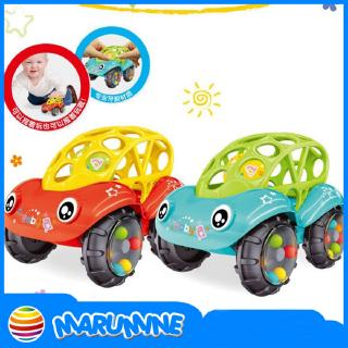 Kids Gift Baby Toy Inertial Minibus Oball Ball Rattle Cars Roll Toy