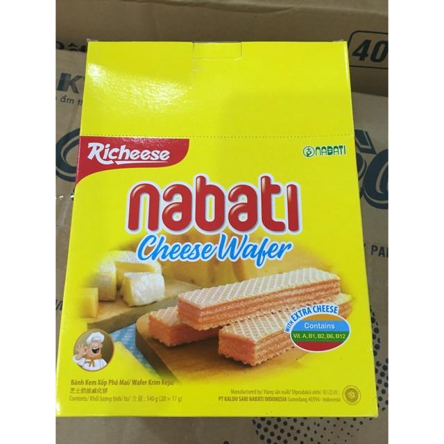 Bánh kem xốp nhân phô mai 340g(20x17g)