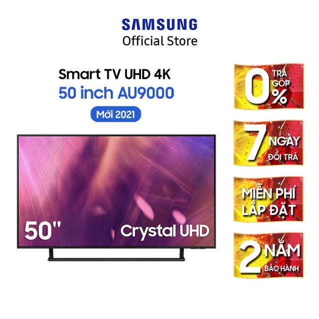 Smart Tivi Samsung Crystal UHD 4K 50 inch UA50AU9000KXXV – Miễn phí lắp đặt