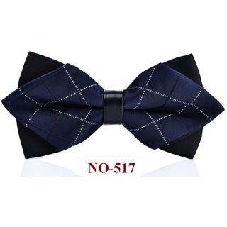 Nơ cài áo Nam màu xanh 2 lớp mũi nhọn (nhiều mẫu khác nhau), nơ đeo cổ nam giá rẻ, nơ chú rể – Phụ kiện Vest {AdamZone}