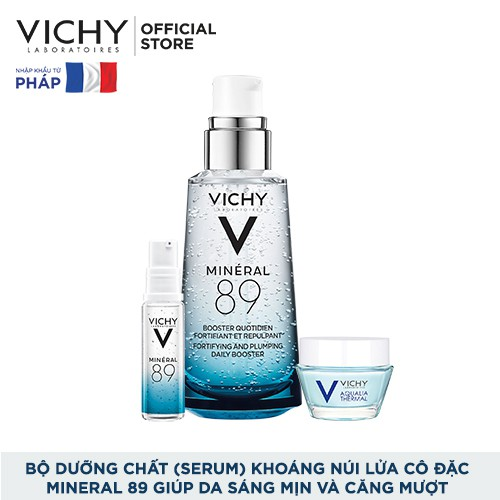 Bộ dưỡng Chất (Serum) Khoáng núi lửa cô đặc Vichy Mineral 89 Giúp Da Sáng Mịn Và Căng Mượt
