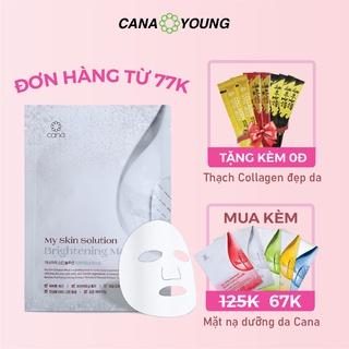 Mặt Nạ Dưỡng Trắng, Cấp Ẩm Hàn Quốc Cana My Skin Solution Brightening thumbnail