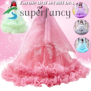 ready stock Big Wedding Doll Lolita Princess Girl Toy Gift Set Summer Holiday Gift Cute