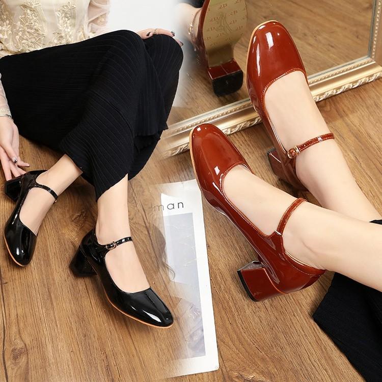 (Sẵn + ảnh thật) Giày Mary Jane cổ điển MS8805