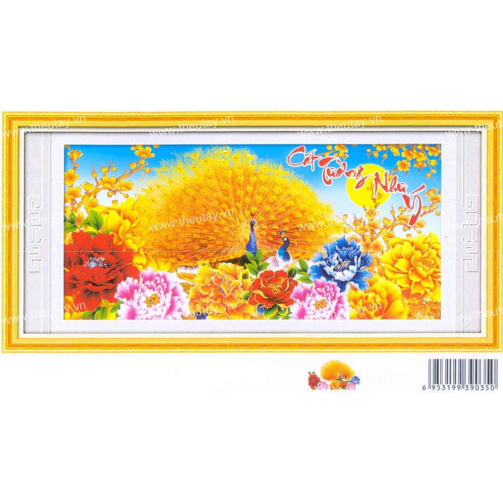 Tranh thêu chữ thập chưa thêu + kết chỉ hoa nhựa và đá đuối công pha lê tuyệt đẹp Cát Tường Như Ý X8 - 3213705 , 1204383049 , 322_1204383049 , 133000 , Tranh-theu-chu-thap-chua-theu-ket-chi-hoa-nhua-va-da-duoi-cong-pha-le-tuyet-dep-Cat-Tuong-Nhu-Y-X8-322_1204383049 , shopee.vn , Tranh thêu chữ thập chưa thêu + kết chỉ hoa nhựa và đá đuối công pha lê t