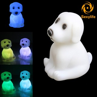 SL♣ LED Night Light Color Changing Party Decoration Cute Cartoon Dog Animal Mood Lamp Gift