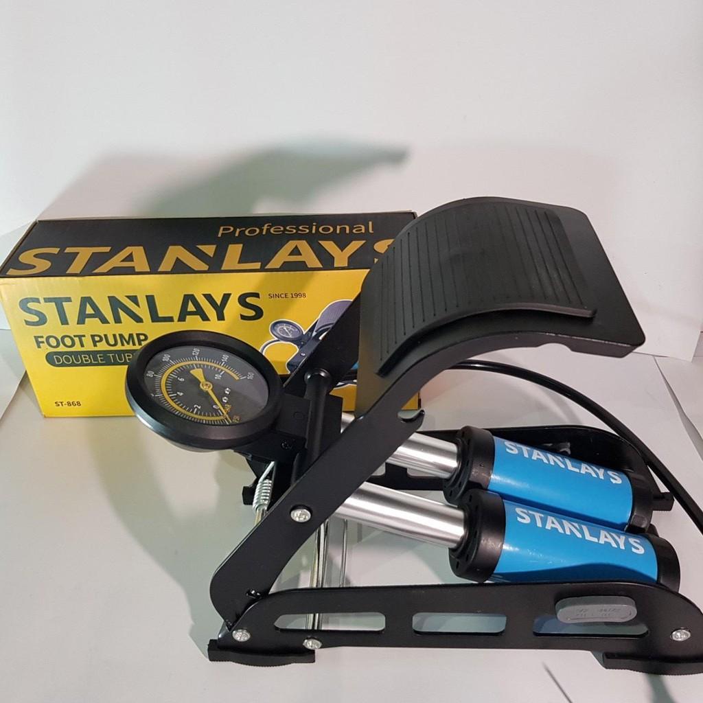 [Bảo hành 2 năm . xin cam kết ]Bơm Đạp Chân Đa Năng Mini Cho Ô Tô Xe Máy 2 Xilanh Nhập Khẩu chính hãng ( Stanlays )