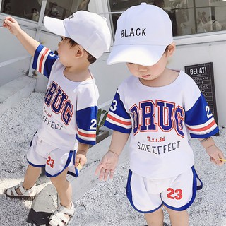 Baby Summer Boy Sports Suit 1 One 3 Years Old Baby Summer Baby Children's Handsome 2 Boy Clothes 4 气