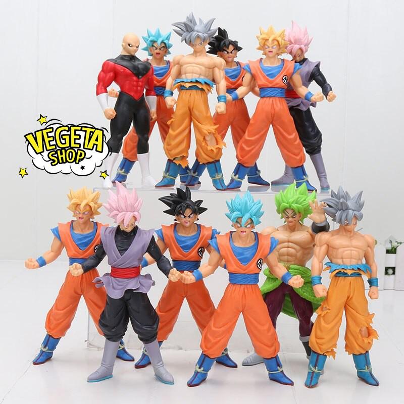 Mô hình Dragon Ball – 10 nhân vật Gogeta SonGoku Goku Broly Jiren Vegeta Super Saiyan God SSJ4 – Cao 18cm