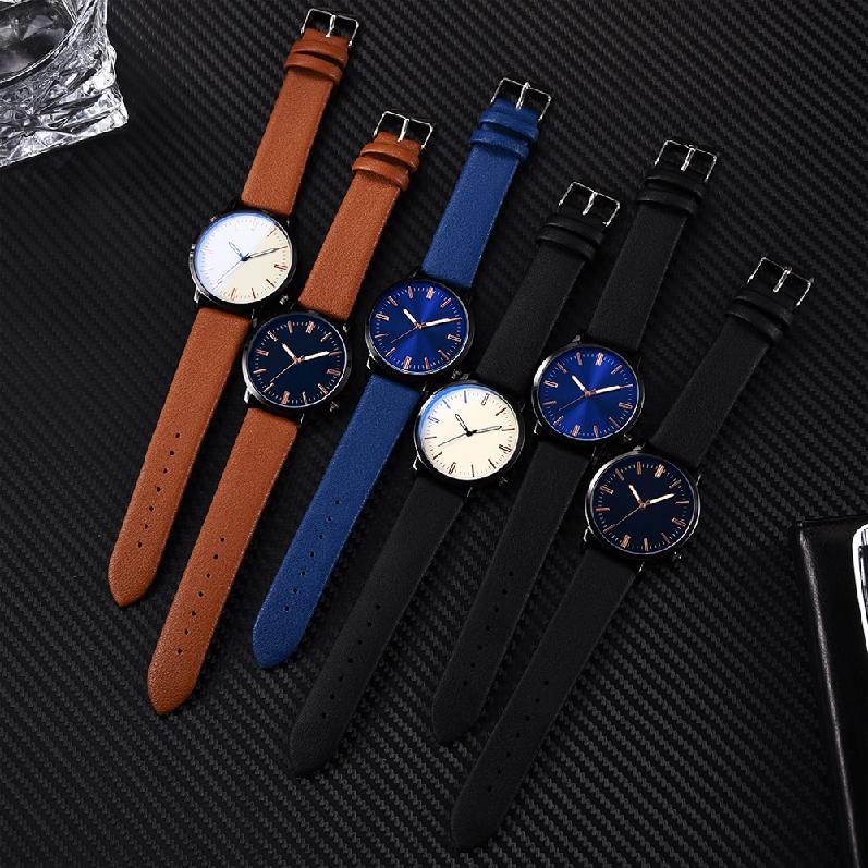 นาฬิกาควอทซ์ที่มีสไตล์และประณีตดูสบาย ๆ 454