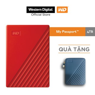 Ổ cứng WD My Passport 2.5 INCH( USB 3.2) 4TB Portable( Đỏ)