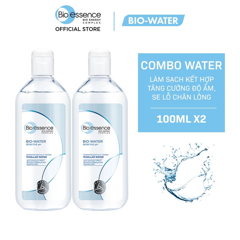 [Mã BIOEHB249 giảm 30K đơn 249K] Combo 2 Nước tẩy trang ẩm mượt Bio-Essence Bio-Water 100ml/chai