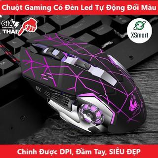 Chuột Máy Tính Gaming V5 Chơi Game LED RGB Siêu Cao Cấp, Tự Động Đổi Màu - XSmart thumbnail