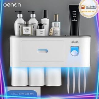 HCM[BÁN CHẠY] Bộ Nhả Kem Đánh Răng Tự Động OENON, Kệ để đồ phòng tắm đa năng HOA CƯỜNG SHOP