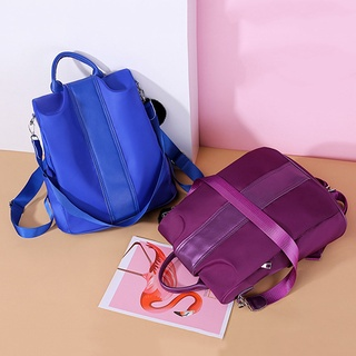 Women Large Capacity Backpack High Capacity Solid Color Shoulder Bags Handbag School Backpack