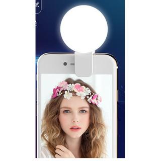 Đèn LED Kẹp Điện Thoại Hỗ Trợ Chụp Hình Selfie Pin Sạc USB