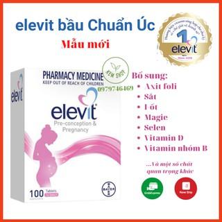 [Cam kết chuẩn Auth] Elevit bầu Úc - Vitamin Tổng Hợp cho bà Bầu 100 viên mẫu mới date mới, giúp mẹ bầu khỏe, con khỏe thumbnail