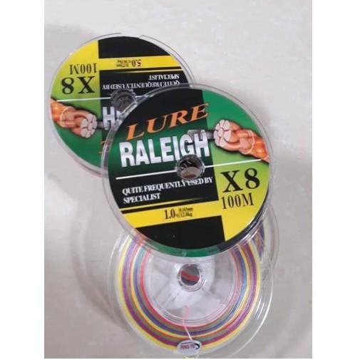 Dây Dù Câu Cá Lure Raleigh X8 7 Màu Siêu Đẹp Siêu Bền Mịn