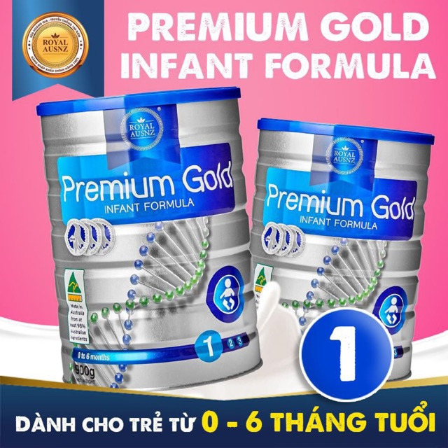 Sữa Hoàng Gia Úc Royal Ausnz Premium Gold Infant Fomula 900gr
