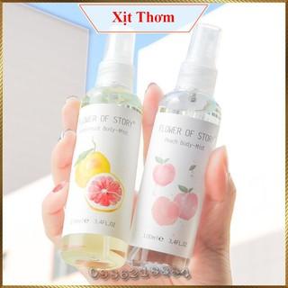 Xịt thơm 2in1 body và xịt thơm phòng Flower Of Story 100ml hương hoa quả FOS9 thumbnail