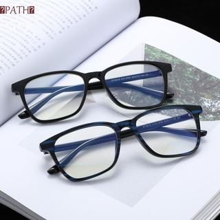 PATH Retro Frame Computer Glasses Lightweight Eye Eyestrain Blue Light Blocking Vision Care Cut UV400 with Spring Hinges Nerd Reading Gaming Glasses Eyewear Unisex Glasses