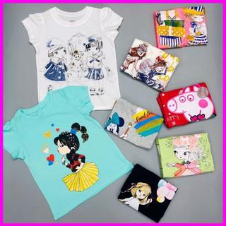 Áo Thun Bé Gái, Size 4-14, Hàng Made In Vn, Chất Cotton Xuất Dư Đẹp, Nhiều Màu Sắc Cho Bé Lựa Chọn