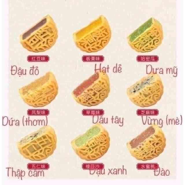 Combo 21 vị bánh trung thu mini Đài Loan